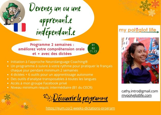 best way to learn french alone with dictations