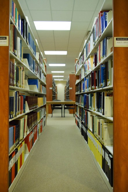 Rows of German books