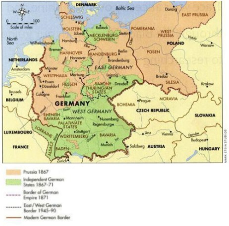 Map Of Germany Over The Years.The Callies Family From Tempelburg To St Louis Missouri My