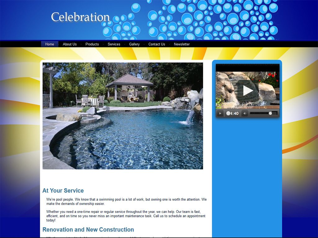 Celebration Flex Website