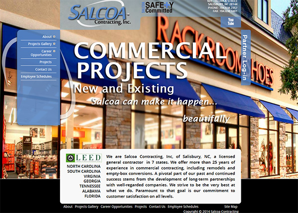 Salcoa Contracting Custom Website