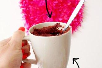 2 min chocolate brownie in a mug