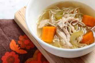 No Fuss Slow Cooker Chicken Noodle Soup Recipe mypoppet.com.au/living