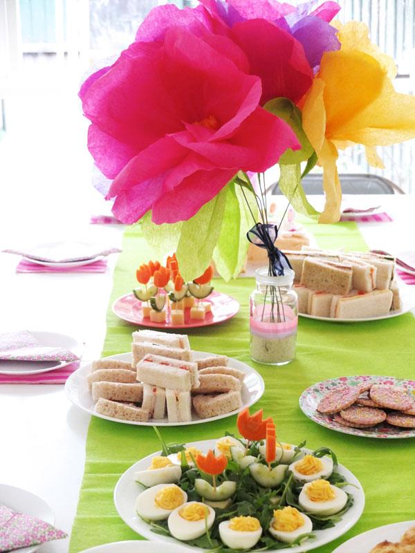 flower garden party themed birthday decorations