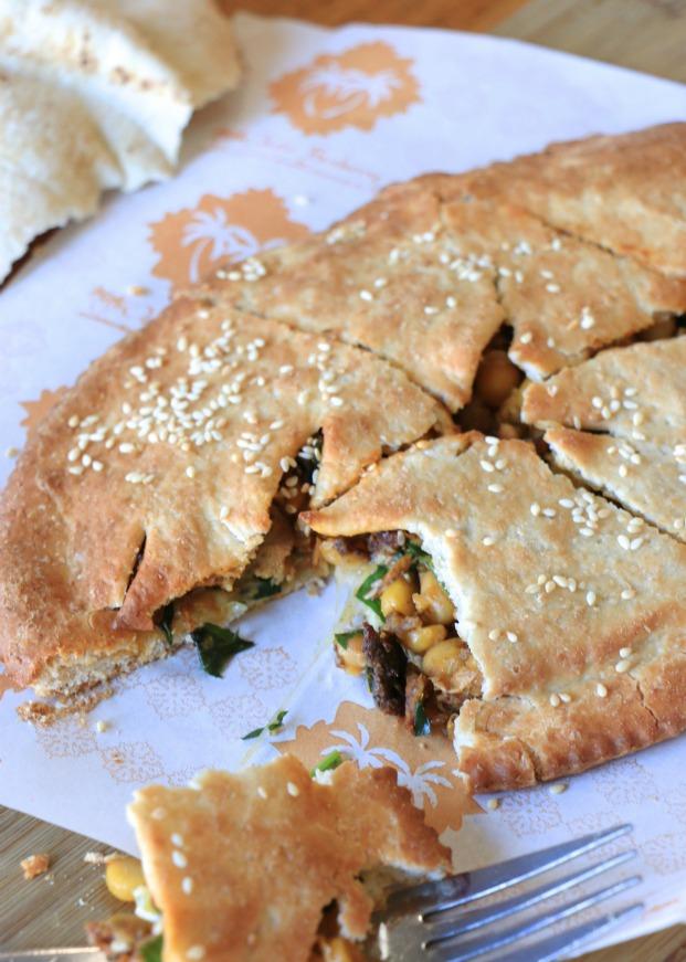 Tender chicken w Moroccan spiced chickpeas & halloumi cheese $6.5
