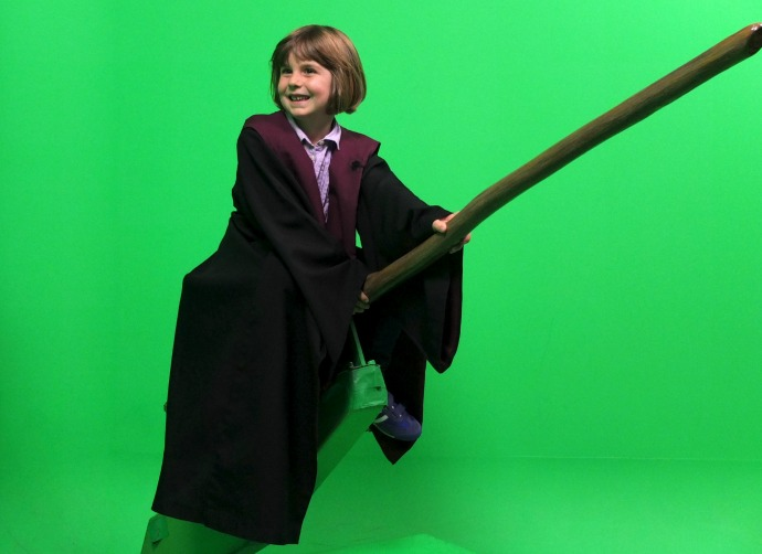 Flying a broom harry potter