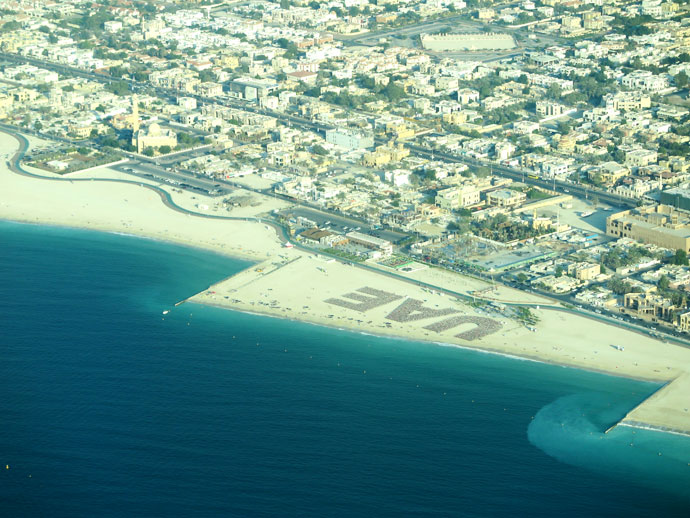 arial photo dubai