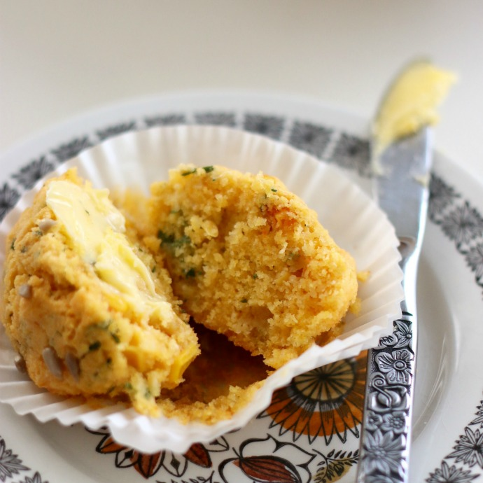 polenta cilantro and corn muffins
