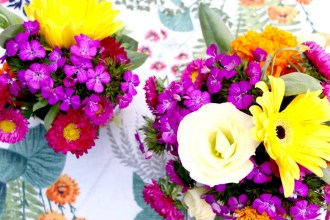 How to make a floral arrangement in a bowl
