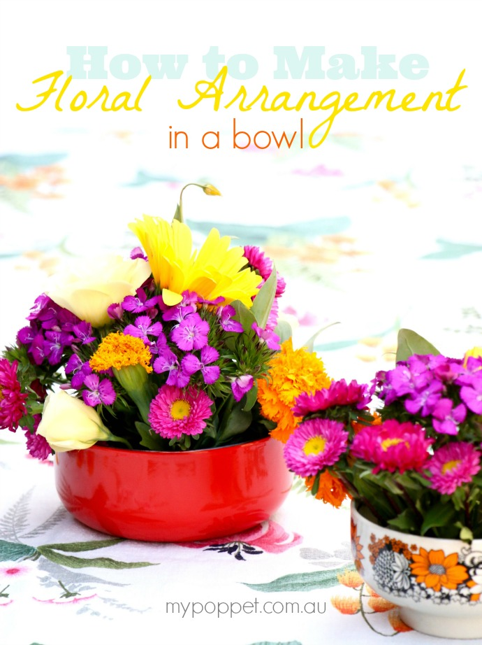 How to make a floral arrangement in a bowl - Easy DIY