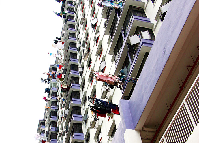 hi rise apartments sinagpore washing