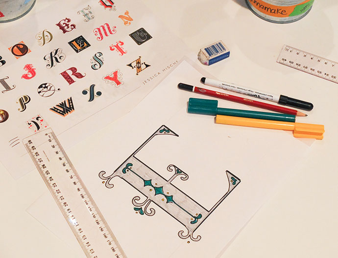 hand lettering at Knowledge Market