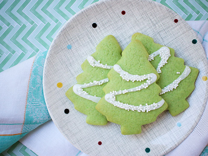 How to decorate a christmas tree cookie