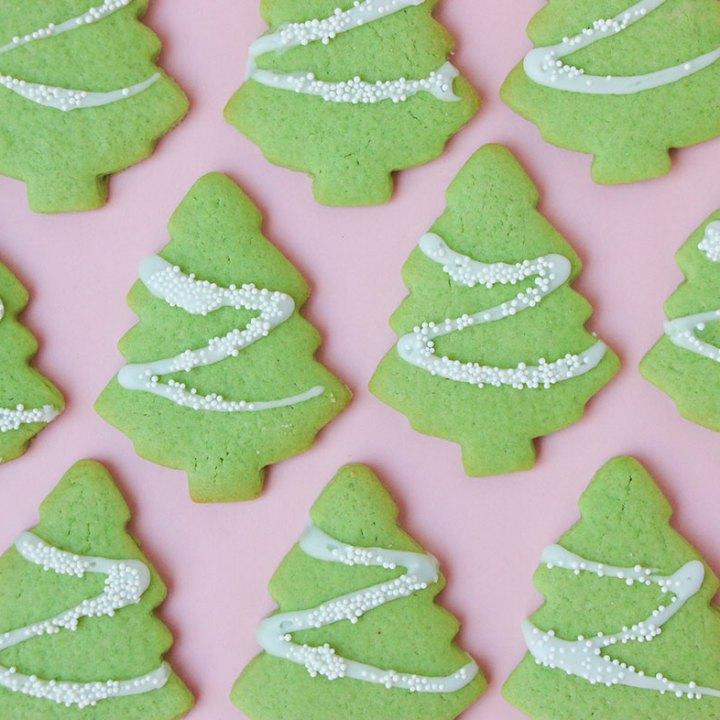 Easy Christmas Tree Cookie Recipe mypoppet.com.au