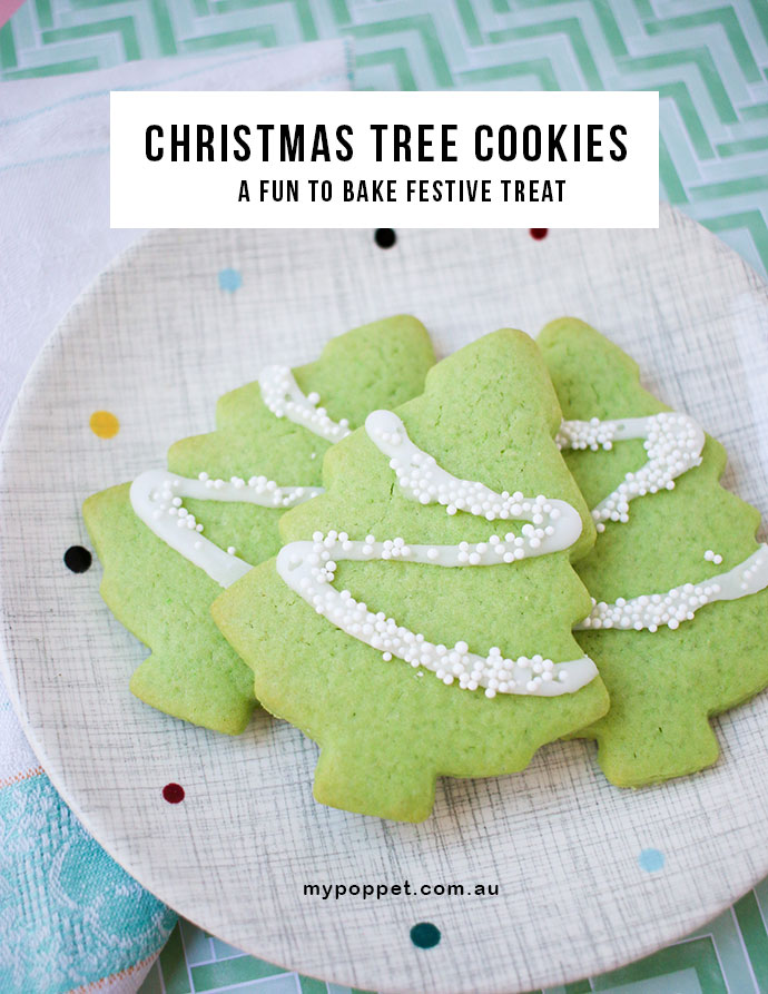 Easy Christmas Tree Cookie Recipe mypoppet.com.au - Christmas Tree Cookies