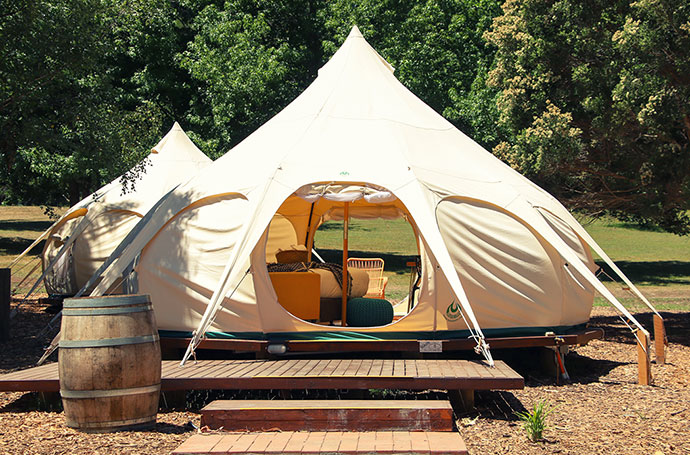 Lotus Belle glamping tents - Yarra valley camping review - mypoppet.com.au