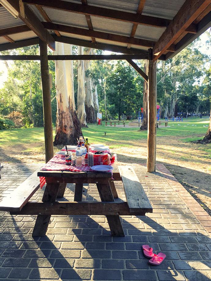 campsite picnic area