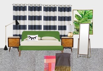 How to chose carpet - Bedroom makeover moodboard