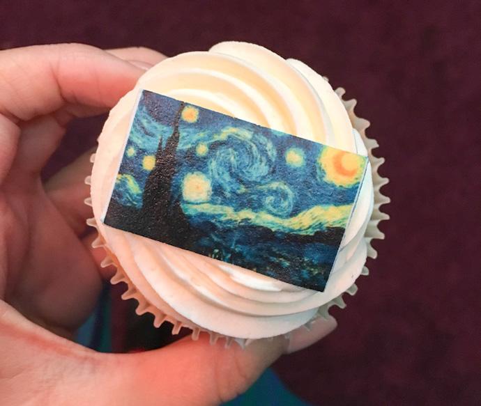 The starry Night cupcake