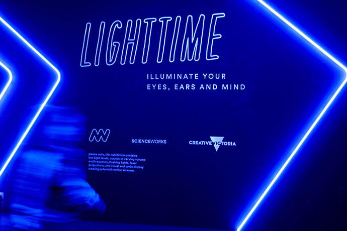 LightTime, school holiday activity idea Melbourne, Scienceworks mypoppet.com.au