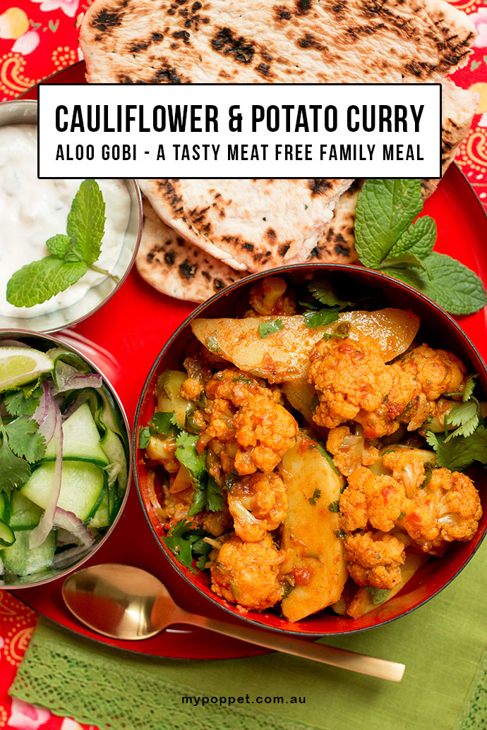 Aloo Gobi Recipe - Cauliflower & Potato Curry - mypoppet.com.au