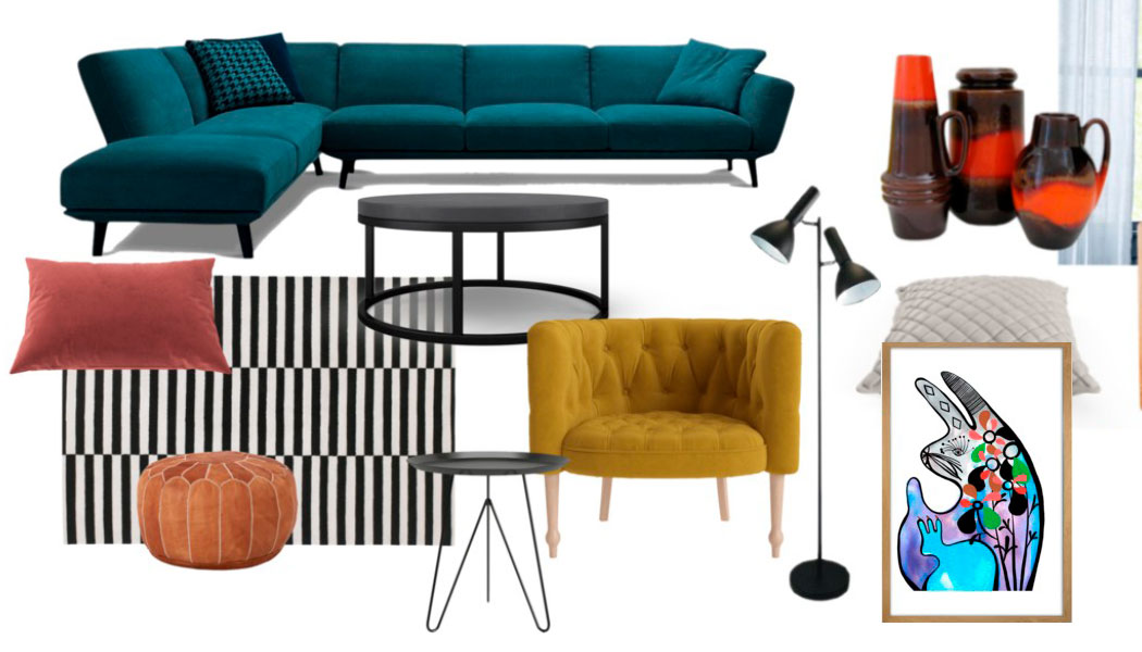 Loung room makeover moodboard