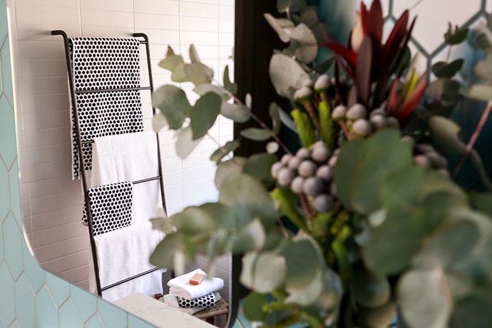 Towel Ladder styling mypoppet.com.au