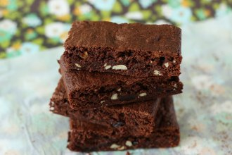 Fruit and Nut Chocolate Brownie recipe - mypoppet.com.au