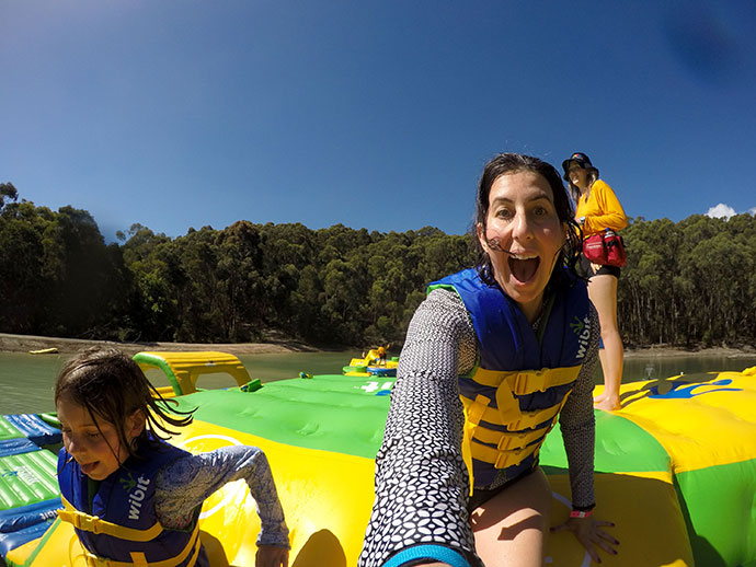 Parky's Inflatable water park, Yarra Valley Victoria, Australia - mypoppet.com.au