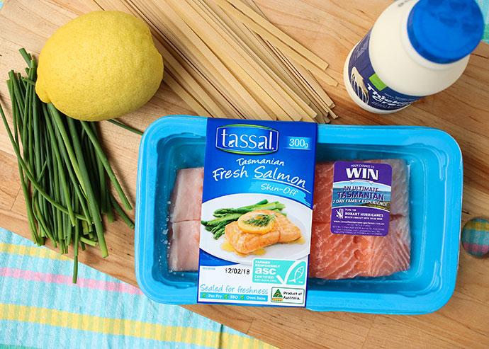 Salmon fettuccine with lemon cream sauce recipe - mypoppet.com.au