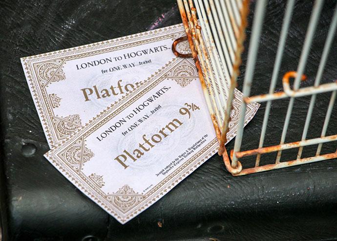 Platform 9 3/4 - photo backdrop - Harry Potter Party - mypoppet.com.au