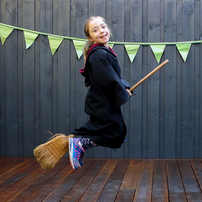 Harry Potter Party Ideas - Flying lessons - mypoppet.com.au