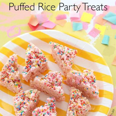 Fairy Bread Puffed Rice Party Treats - Allergy Friendly