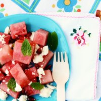 Watermelon, Feta & Pomegranate Summer Salad