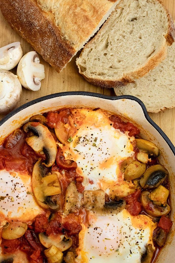 Mushroom Shakshuka recipe - mypoppet.com.au