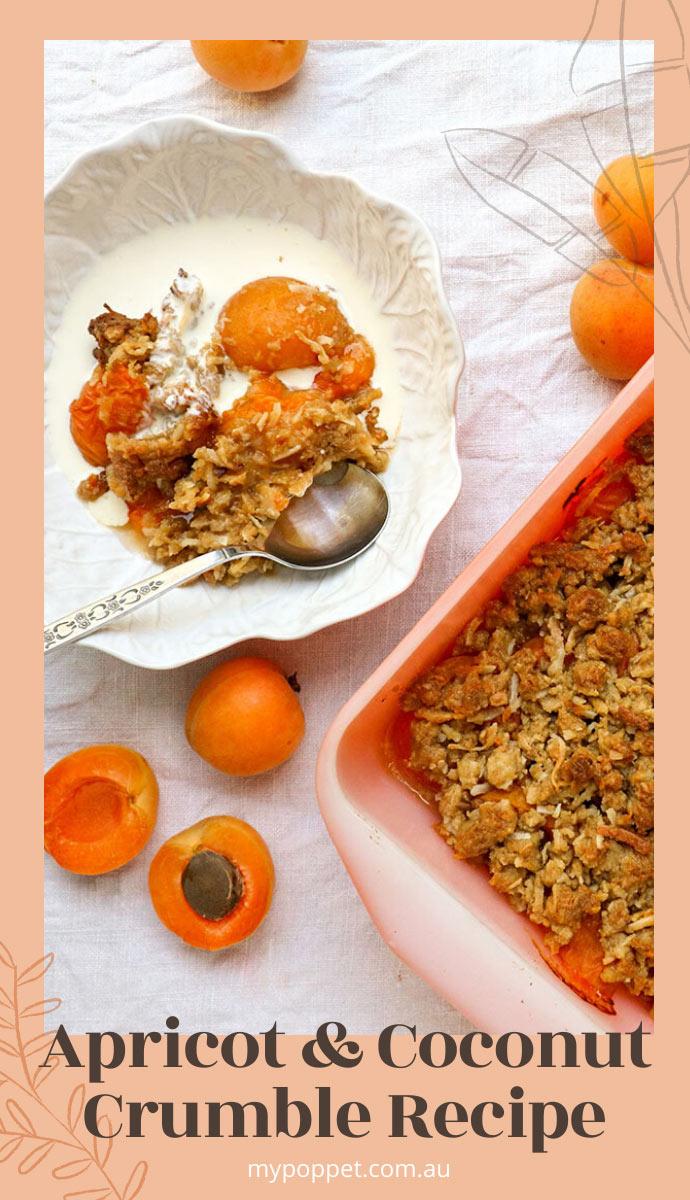 Apricot and coconut crumble recipe
