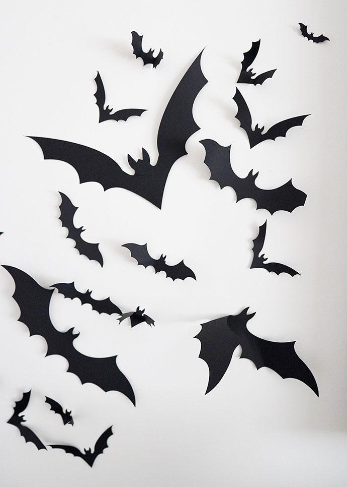 black paper bats