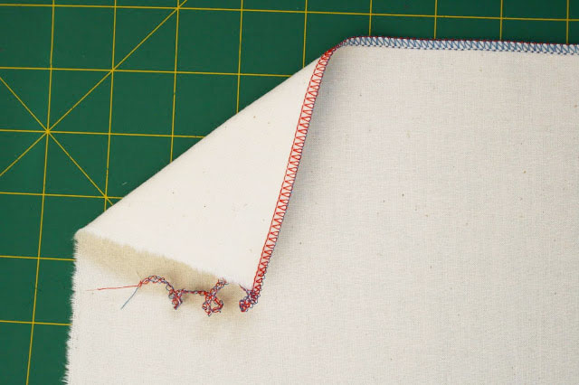 How to make a fabric pencil roll - serged edges - mypoppet.com.au