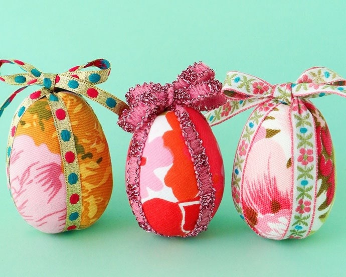 How To Make Fabric Covered Easter Eggs