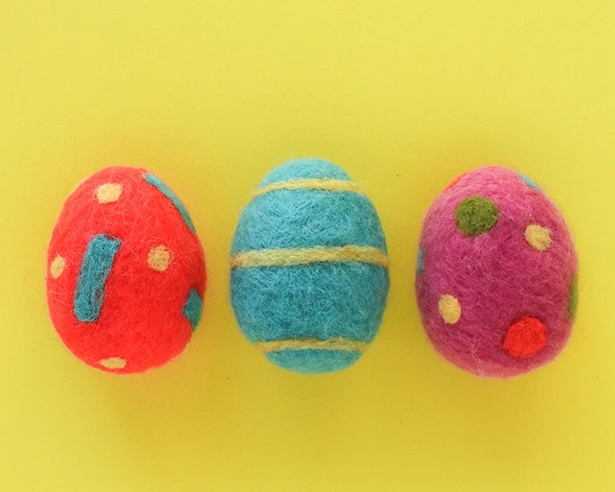 Needle felted Easter Eggs - Mypoppet.com.au