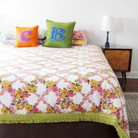 How to make a Duvet Cover from Vintage Sheets