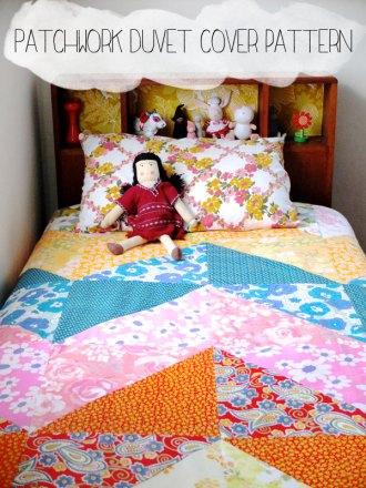 Patchwork Duvet cover pattern mypoppet.com.au