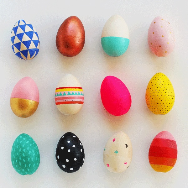 How to Paint Wooden Easter Eggs