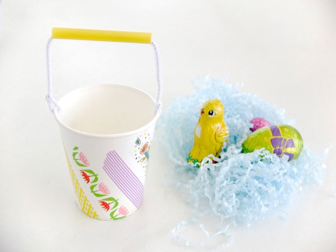 Diy Mini Easter Baskets from Paper cups