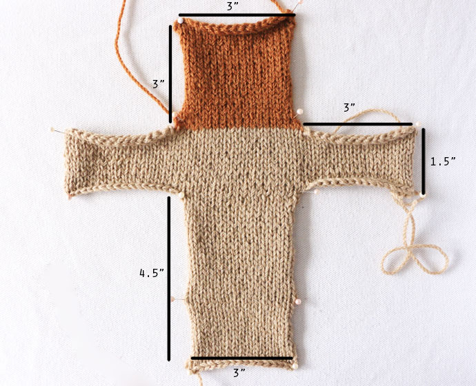 Knitted hot cross bun pattern mypoppet.com.au