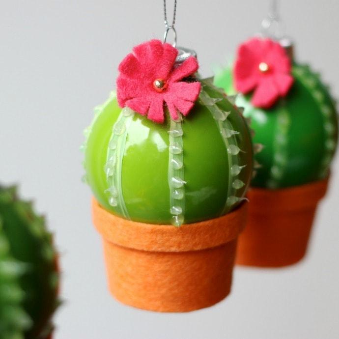 DIY Cactus Christmas Decoration Baubles MCM