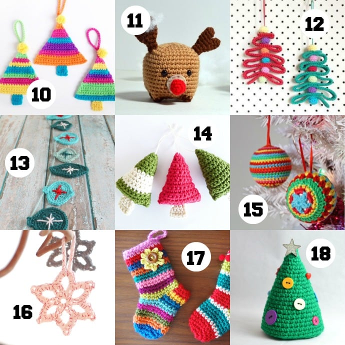 Free christmas ornament crochet patterns
