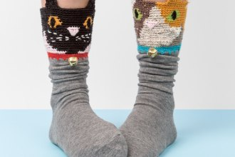 frankie magazine, the sock project – decorated by eileen braybrook