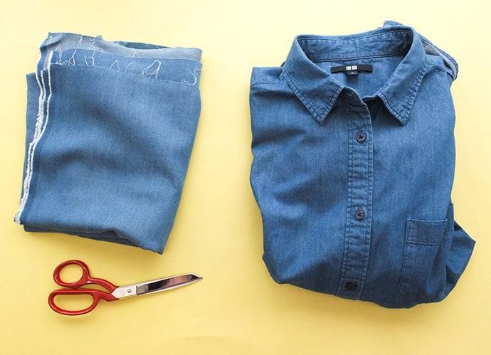 shirt refashion supplies