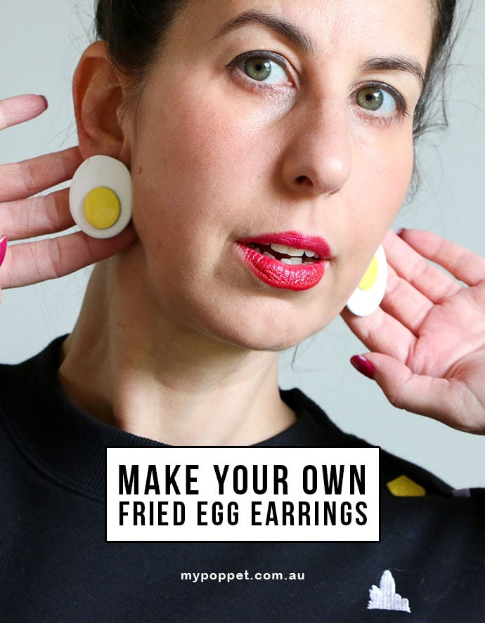 DIY Fried Egg Earrings MyPoppet.com.au